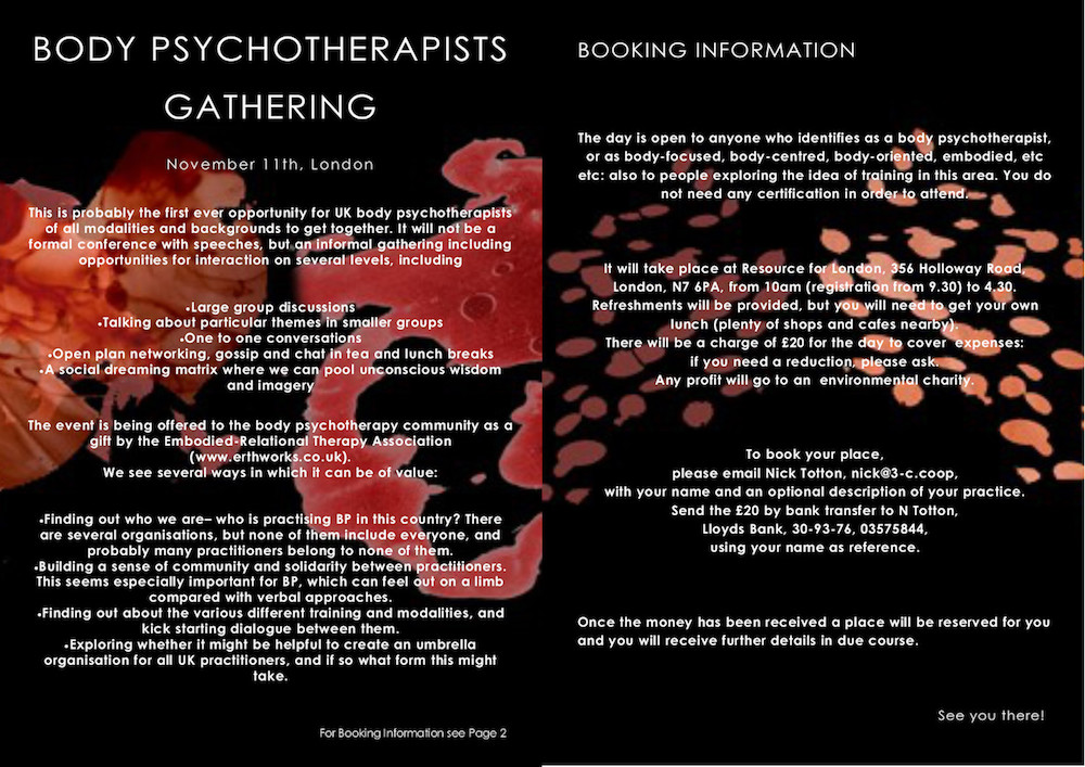 BODY PSYCHOTHERAPISTS GATHERING