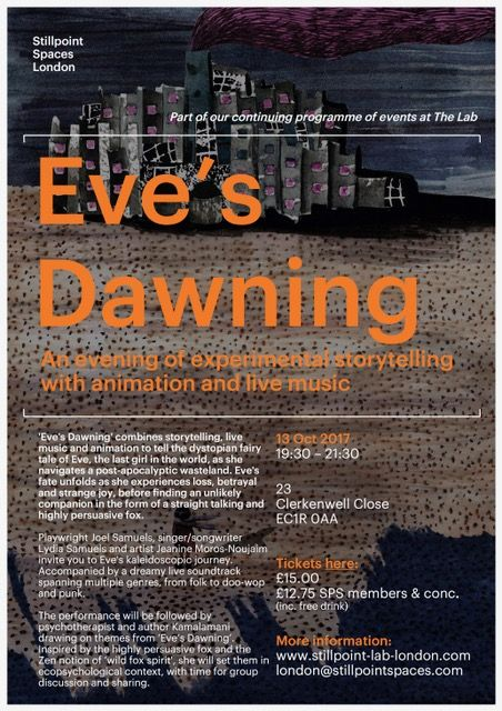 Eve's Dawning - an evening of experimental story-telling with animation and live music